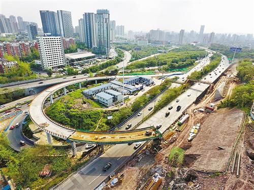 机场路回兴立交 变身 改造后匝道总量增至17条