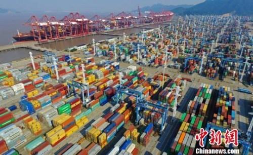 一季度进出口同比增长21.8%