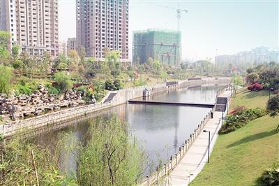 整治后的荣昌荣峰河三号桥上游。