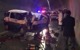 重庆一隧道发生惨烈车祸 已致3死9伤