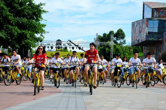 重庆地区苏宁易购年中庆骑行趴活动