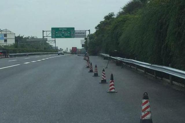 G85成渝高速大修施工进城方向交通有调整