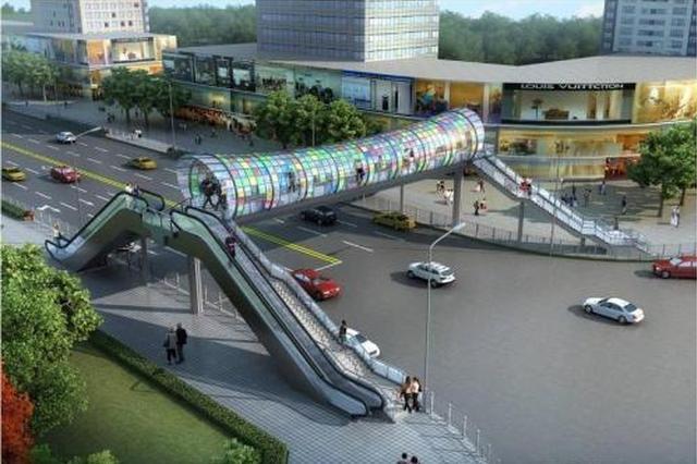 方便市民安全过街 渝北新建人行地通道和人行天桥