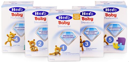 ▲Hero Baby荷兰版婴幼儿配方奶粉