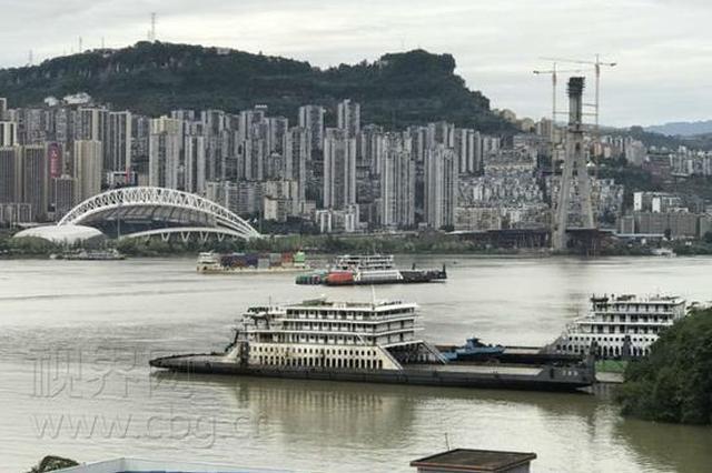 """三峡库区蓄水抵近175米 长江变身""""水上高速通道"""""""