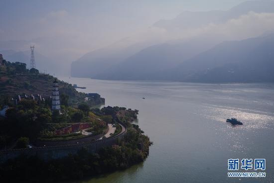 三峡蓄水175米 白帝城新貌 瞿塘峡新景