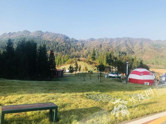 冷水服务区生态旅游自驾营地。记者 刘艳 摄