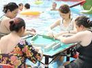 城会玩!重庆一景区可水上打麻将
