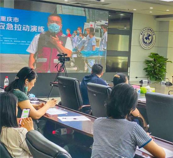 演练指挥中心场景 中国电信重庆公司供图