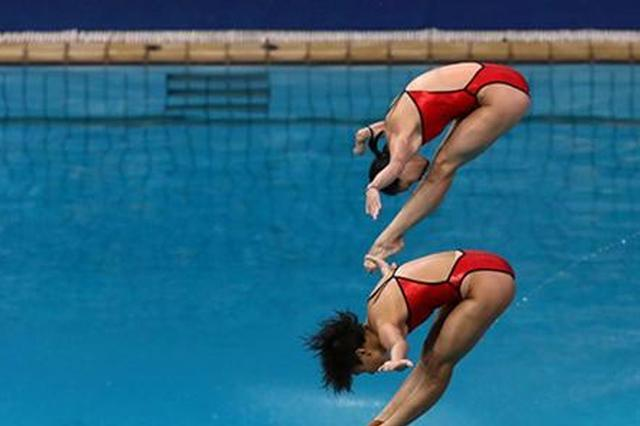 施廷懋获国际泳联跳水赛日本站女子双人3米跳板冠军