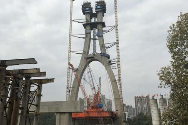 潼南涪江大桥开始主桥桥面铺装 今年7月完成合龙