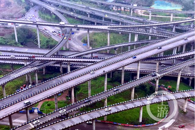 """""""看哭导航""""的重庆网红立交:有外地游客打车去打卡"""