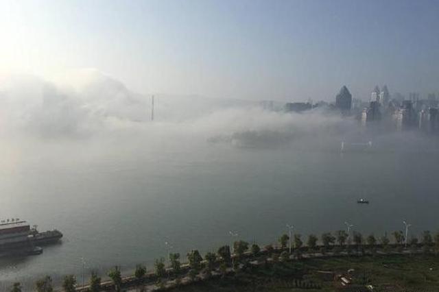 """美轮美奂 今晨涪陵城现""""海市蜃楼""""景观"""