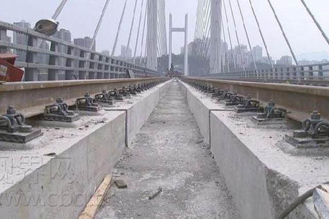 高家花园轨道专用桥本月底完成铺轨