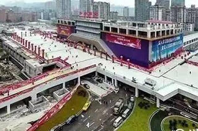三峡广场商圈将建地下道路分流系统 下穿道已开工