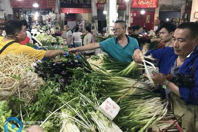 入夏后重庆本地菜大量上市 近期菜价大幅下跌