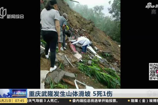 重庆武隆发生山体滑坡 5死1伤