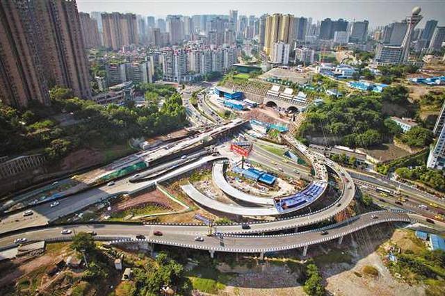 主城一大型立交即将完工 从陈家坪到江北只需10分钟