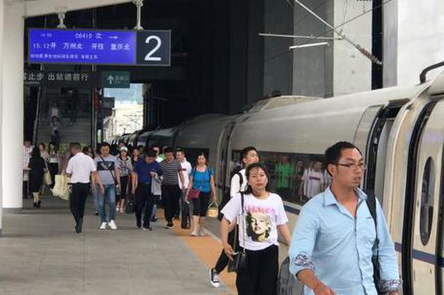 渝万高铁端午节加开10趟列车 帮助市民及时顺利出行