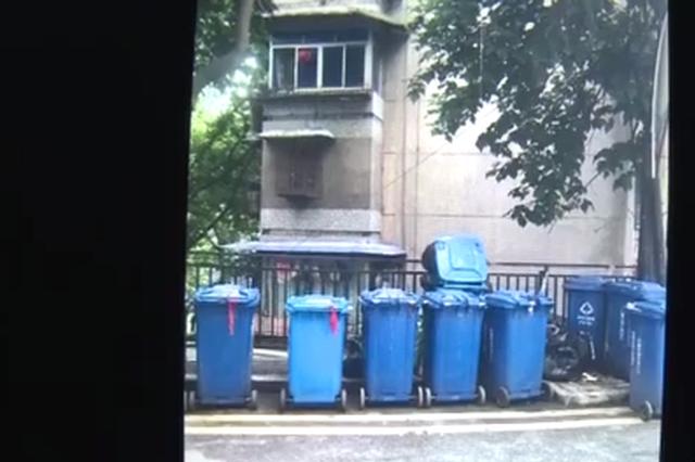 家门外的马路上堆了15个垃圾桶 臭气熏人不敢开窗