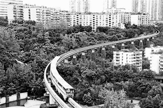 重庆轨道交通运营13年 2号线25年前预言成景点(图)