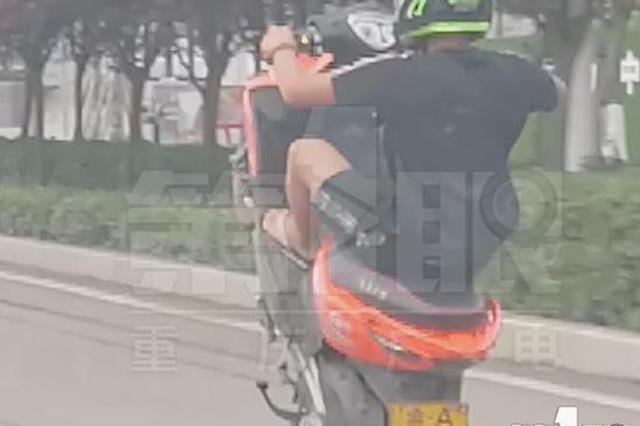 这是玩车还是玩命?重庆几个小伙马路上骑摩托炫技