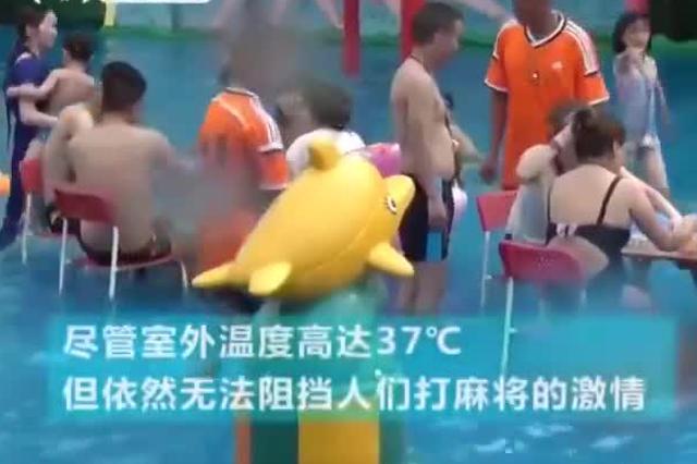 城会玩!重庆一景区惊现水上麻将