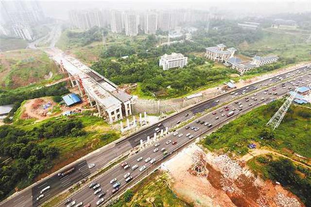 武江路三期工程主体即将完工 石马河立交盘溪立交将缓堵