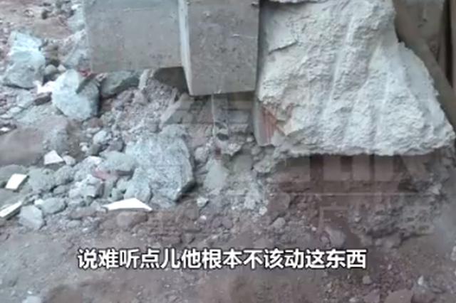 底楼商铺装修阵仗大 满地都是割断的钢筋