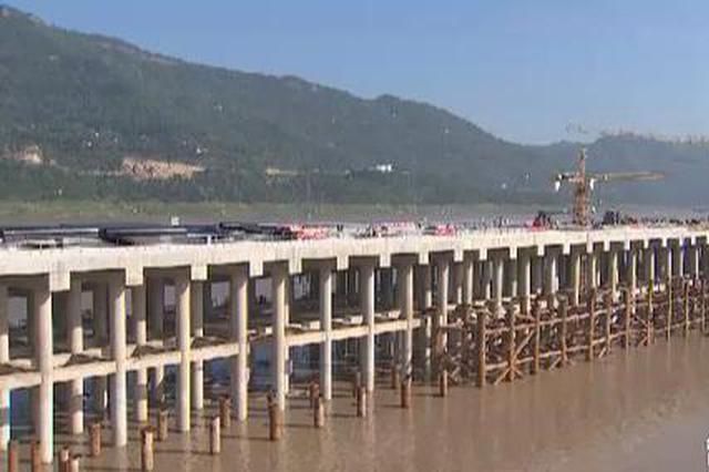万州新田港一期4号泊位主体工程完工