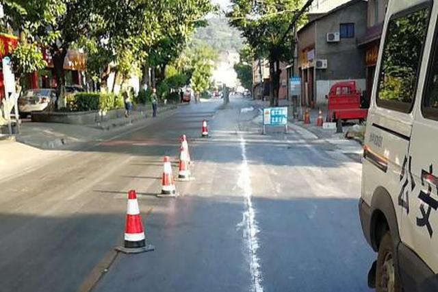 歌乐山两处道路施工 重庆交巡警发布通行提示