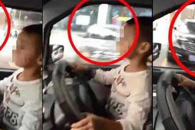 """5岁男童""""开车""""视频疯传 父亲:想让他体验一下"""