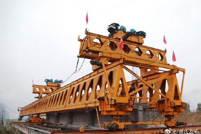 石黔高速首座特大桥架设完成 黔江到石柱只需1小时