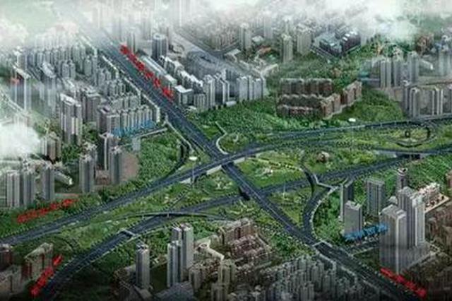 人和立交C匝道主体已完工 一期工程预计春节前通车