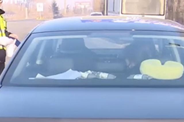 男子挂假车牌被查 面对民警诡异微笑后他又哭了