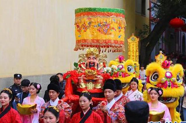 东水门老街办年俗文化节 在重庆主城过传统新年(图)