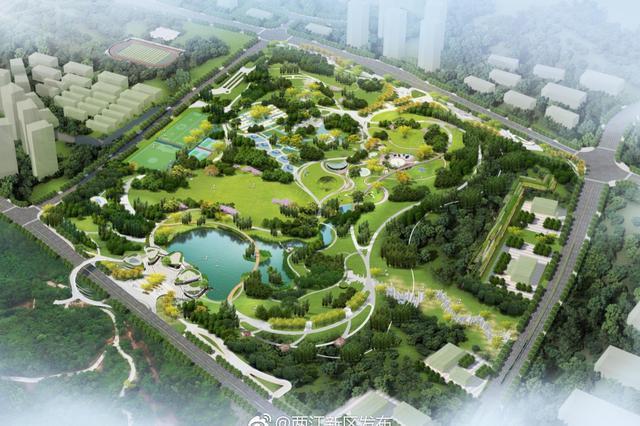 两江新区金州公园预计年底完工 系渣场上建起来的