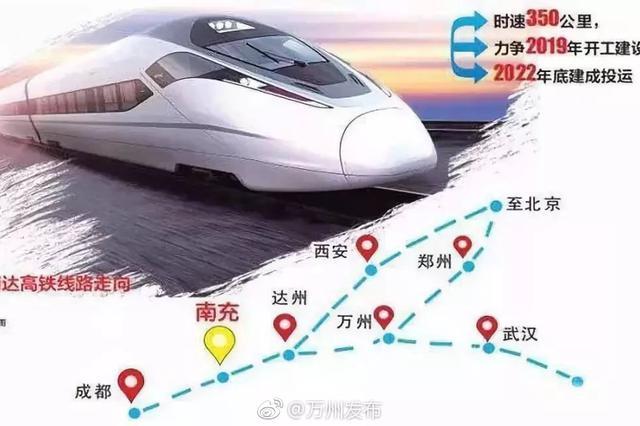 重磅!成南达万高铁预计年底前开工 2023年建成投运