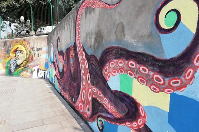 大卫雕像、超级玛丽……重庆有一片2.5万平米涂鸦墙