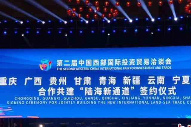 """中国西部九省区市签约共建""""陆海新通道"""""""