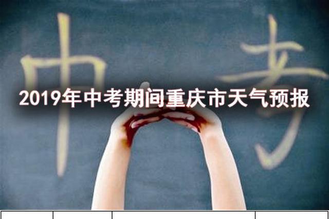 重庆中考期间天气预报出炉 考生注意补水防晒