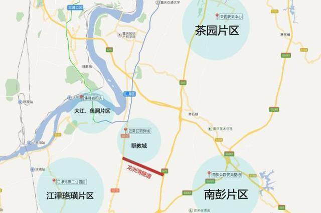 龙洲湾隧道9月底通车 是主城首个投运的桥隧PPP项目
