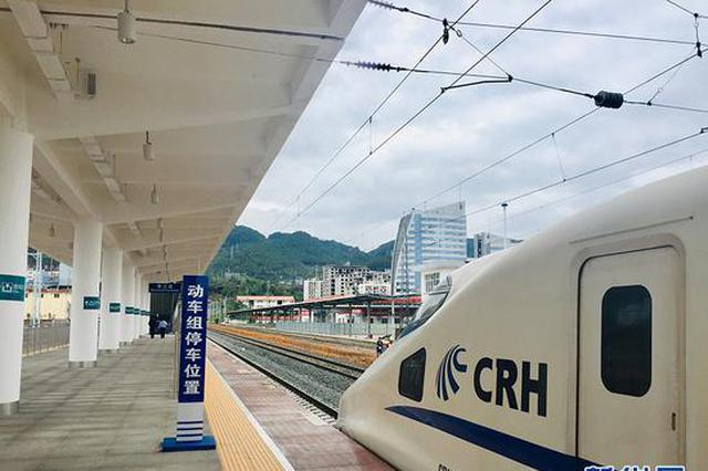 重磅!首趟测试动车驶入黔江 黔张常铁路进入试运行
