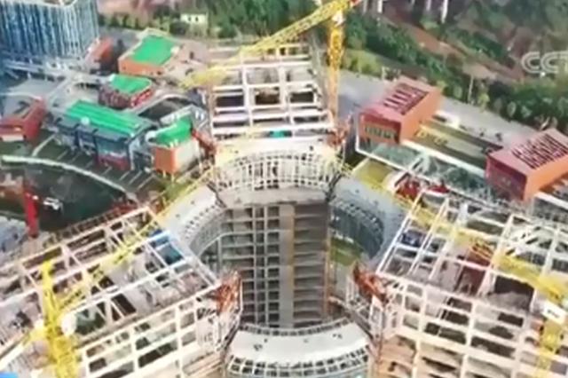 重庆再添新地标!全国首例全通透钢结构高空环廊合拢