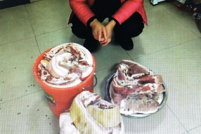 想吃腌腊肉却不想花钱买 女子超市里多次盗窃被抓