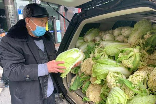 心疼抗疫人员 重庆78岁老人凌晨起床摘菜送菜1600斤