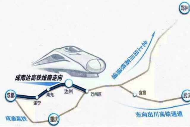成达万高铁预计今年6月开工建设 计划总投资975亿元