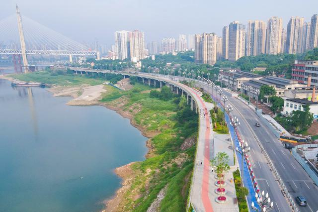 北滨路景观步道新增自行车道和慢跑道 已全程开放