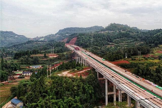 大内高速重庆段最长桥梁全幅贯通 预计明年建成通车