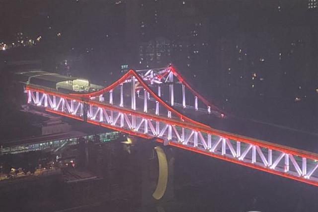 曾家岩大桥即将主线通车 有国内首个桥上轨道换乘站